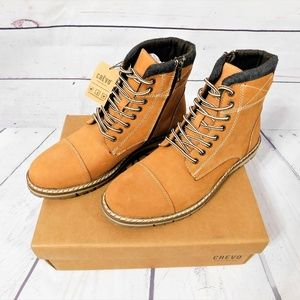NWT! Men's Crevo Fulham Genuine Leather Ankle Boot